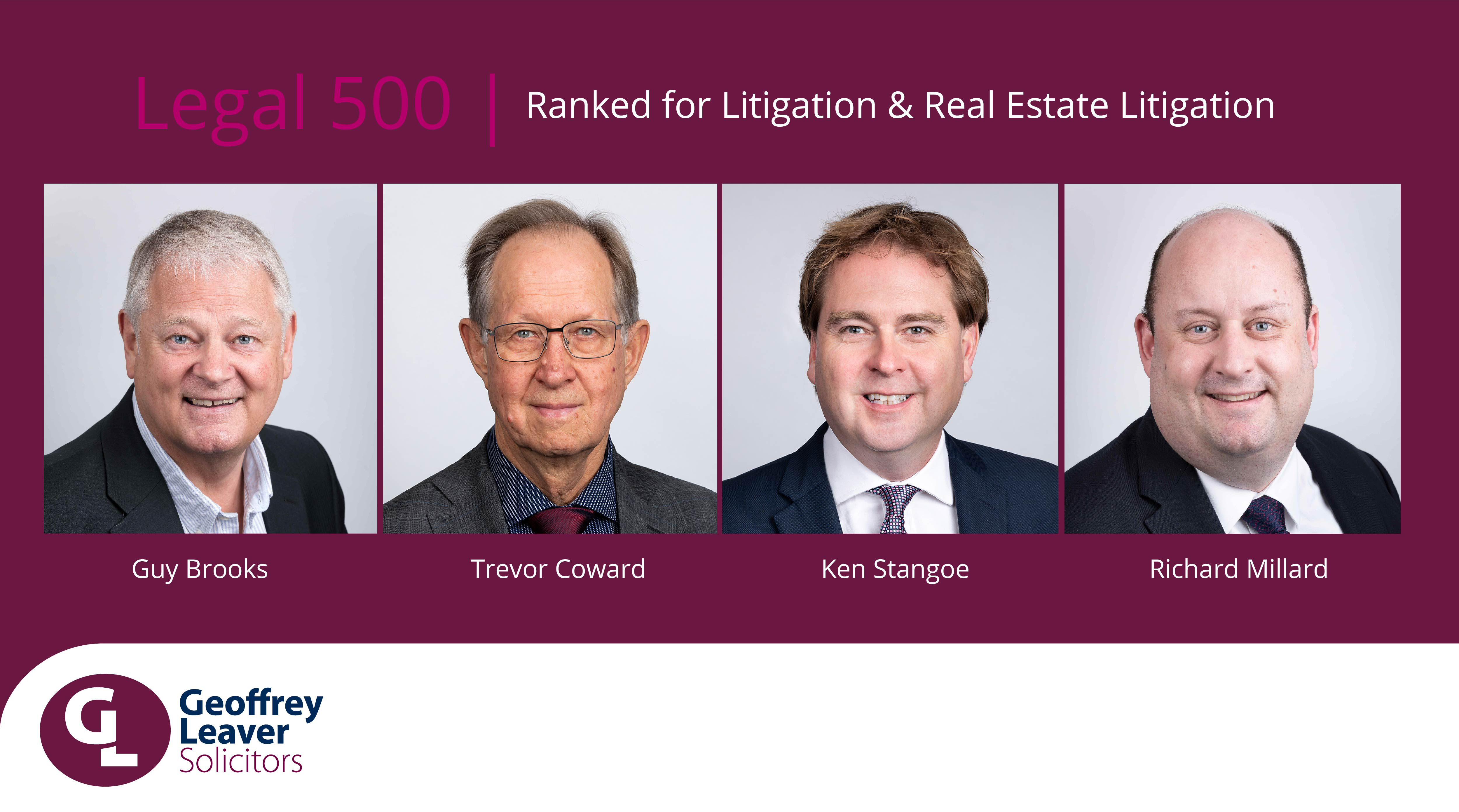 Geoffrey Leaver Solicitors ranked by Legal 500 2021