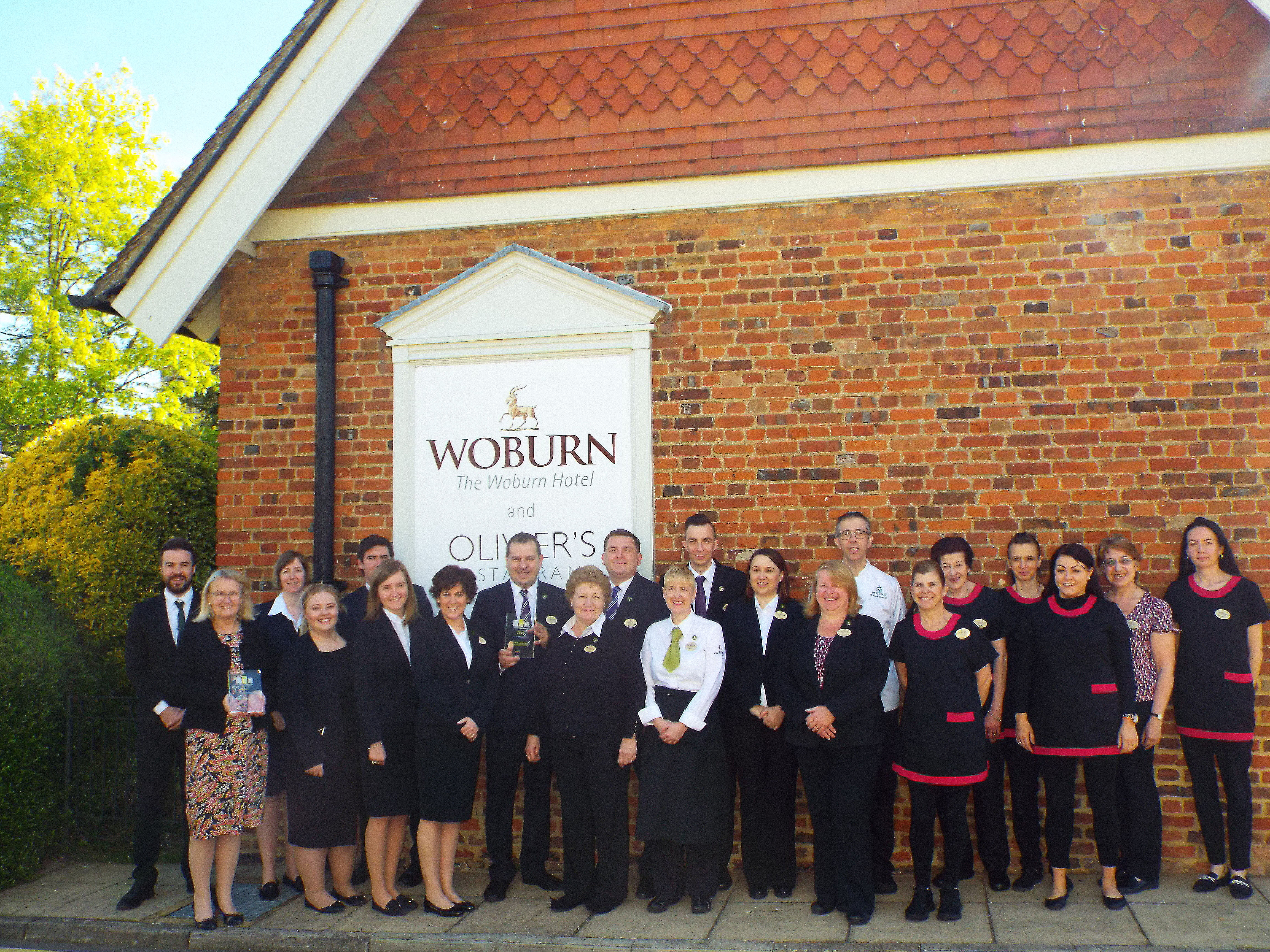 The Woburn Hotel & Olivier's restaurant wins public vote at Bedfordshire SME Business Awards